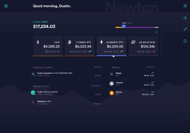 Newton crypto exchange website