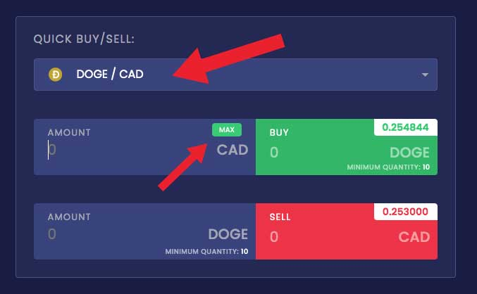 NDAX dogecoin how to